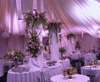 Украшение свадебного зала - современные тенденции