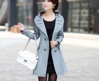 2013-autumn-and-winter-women-plus-size-outerwear-with-a-hood-bow-double-breasted-medium-long