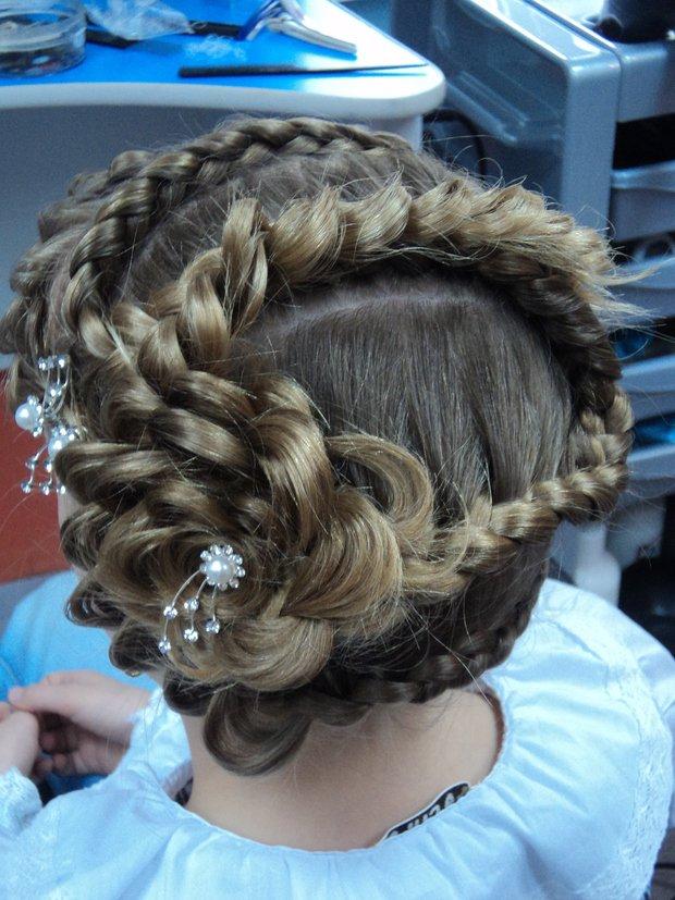 Плетение кос в розы чтобы