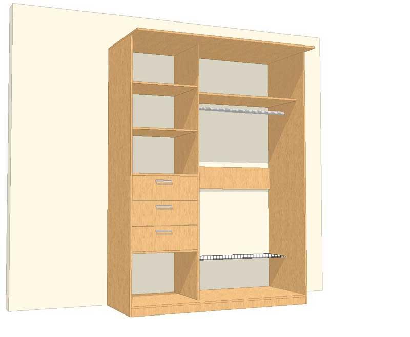 Как сделать стенной шкаф своими