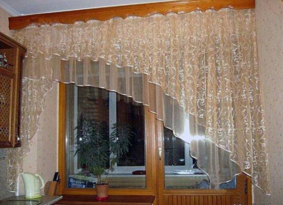 Оригинальные шторы на кухню фото